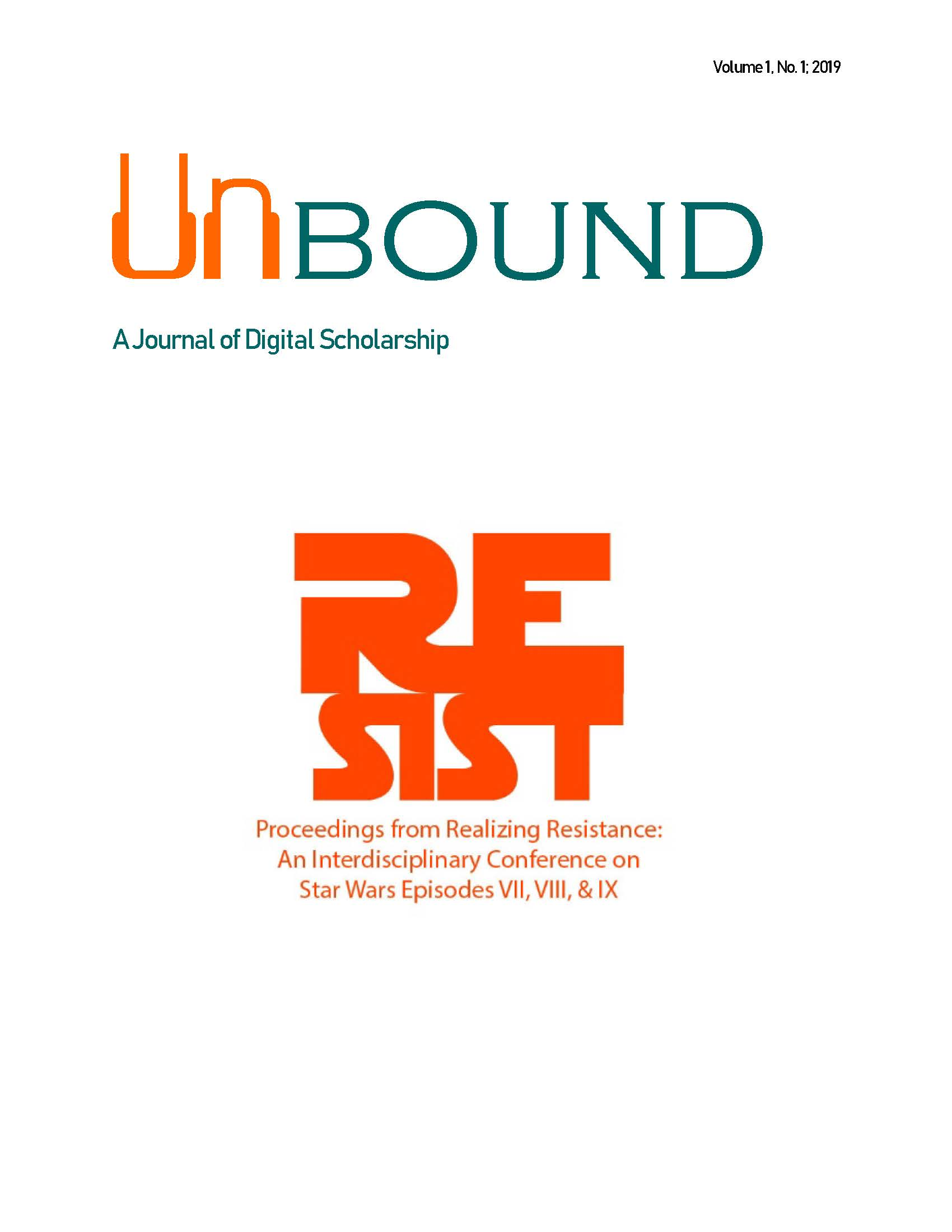 Cover Image of Unbound volume 1, number 1.